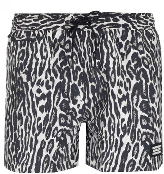 Burberry Leopard Print Swim Shorts