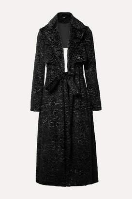 Cult Gaia Aya Open-back Matelasse Velvet Coat - Black