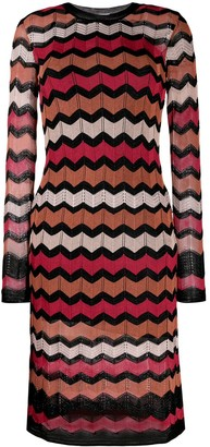 M Missoni Zig-Zag Knit Dress