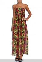 Milly Cabana Palm Print Vedetta Smock Dress