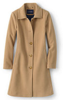 Lands' End Women's Luxe Wool Insulated Car Coat-Warm Camel