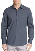 Perry Ellis Slim-Fit Neat Medallion-Print Cotton Sportshirt