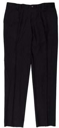 Dolce & Gabbana Pinstripe Virgin Wool Dress Pants