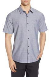 Travis Mathew TravisMathew High Ball Regular Fit Short Sleeve Button-Up Shirt