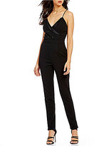 Lovers + Friends Elsa Crepe Surplice V-Neck Jumpsuit