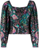 Sandro Paris printed silk blouse