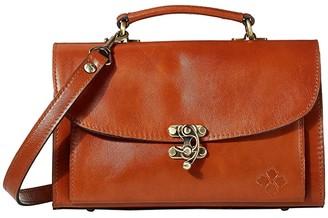 Patricia Nash Charonne East/West Hook Lock Satchel (Tan) Handbags