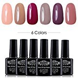 Perfect SummerSoak Off Gel Nail Polish, Soft Pastel Colors French Manicure Gift Kit