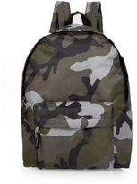 River Island Boys khaki camo backpack