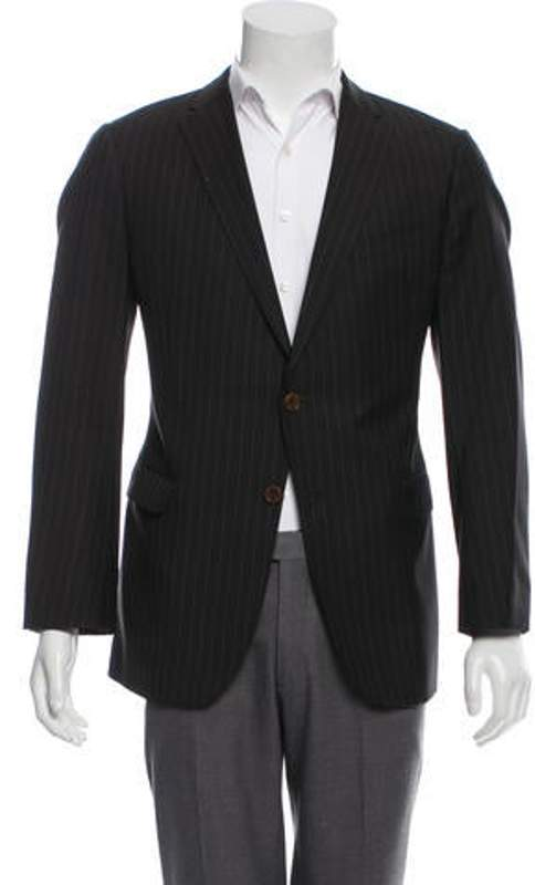 6b7a4d1b Wool Pinstriped Blazer brown Wool Pinstriped Blazer