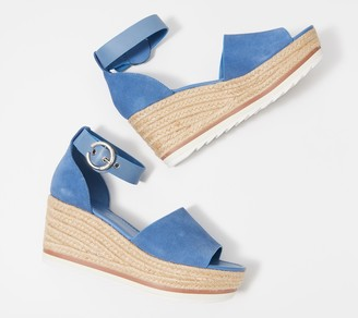 Marc Fisher Suede Espadrille Wedges - Zarna