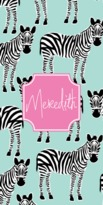 The Well Appointed House Personalized Beach Towel with Zazzy Zebra Pattern