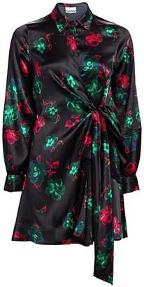 Ganni Silk Stretch Satin Dress