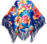 Ralph Lauren Kayla Floral Silk Shawl