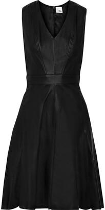 Iris & Ink Ursula Flared Leather Dress