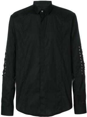 Les Hommes Lace Long-Sleeve Shirt