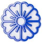 ODI HOUSEWARES Dazzling Blue Bloom Trivet