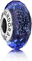 Pandora Iridescent Blue Faceted Glass Murano Charm - Sterling Silver