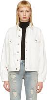 R 13 White Denim Sky Trucker Jacket