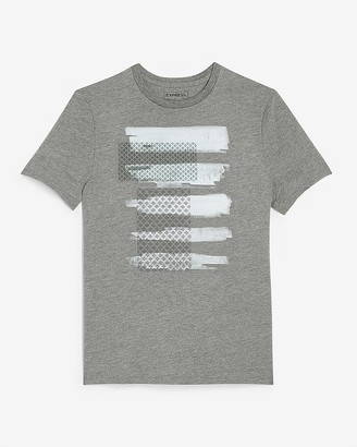 Express Printed Brushstroke Graphic T-Shirt