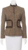 Ports 1961 Fringe-Trimmed Tweed Jacket