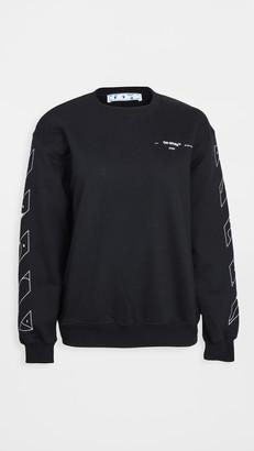 Off-White Puzzle Arrow Oversize Crew Neck Sweatshirt
