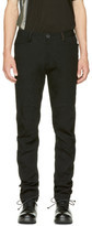 Ziggy Chen Black Straight-Cut Casual Trousers