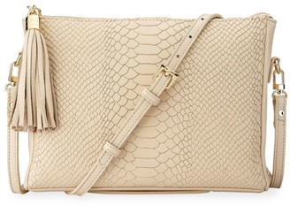 GiGi New York Hailey Python-Embossed Leather Crossbody Bag
