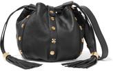 See by Chloe Vicki Embellished Textured-leather Bucket Bag - Black