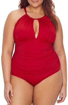 Kenneth Cole Plus Size Core Power Shaping One-Piece