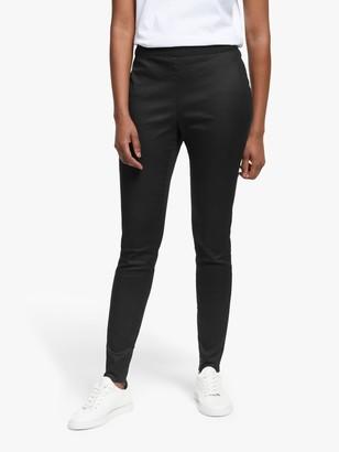 Eileen Fisher Organic Cotton Stretch Denim Trousers, Black