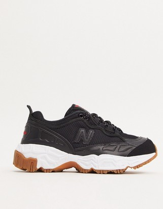 New Balance 801 chunky trail sneakers in black