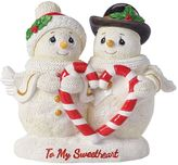 "Precious Moments To My Sweetheart"" Snow Couple Christmas Figurine"