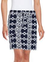 Lord & Taylor Geometric Skirt