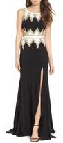 Mac Duggal Women's Embellished Cutout Jersey Gown