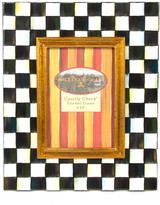 "Mackenzie Childs MacKenzie-Childs - Courtly Check Enamel Frame - 4"" x 6"