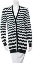 M Missoni Chevron Knit Cardigan