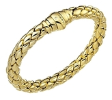 Chimento 18K Yellow Gold Stretch Classic Collection Pyramid Link Bracelet with Diamonds