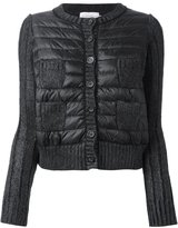 Moncler padded panel cardigan - women - Feather Down/Polyamide/Mohair/Wool - L