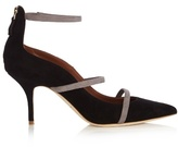 Malone Souliers Robyn point-toe suede pumps
