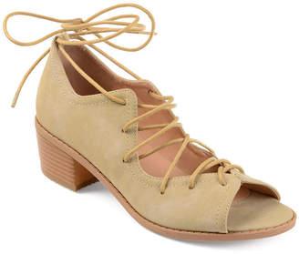 Journee Collection Womens Bowee Pumps Peep Toe Block Heel