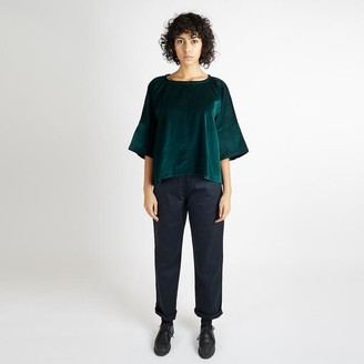 Kate Sheridan Green Velvet Edie Top