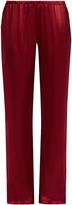 Carine Gilson Straight-leg silk-satin pyjama trousers