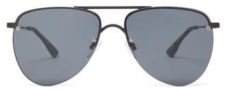 Le Specs The Prince Metal Aviator Sunglasses - Black
