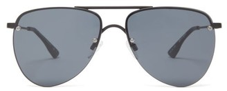 Le Specs The Prince Metal Aviator Sunglasses - Womens - Black