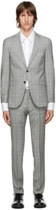 HUGO BOSS Grey Checked Novan6 Ben2 Suit