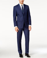 Andrew Marc New Blue Solid Classic Fit Suit