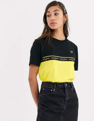 Fred Perry taped tee-Black