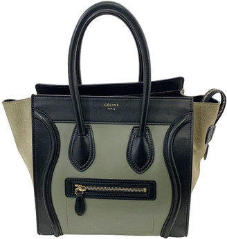 Celine Tri-Color Micro Leather Luggage Tote Bag