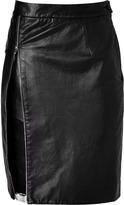 Preen by Thornton Bregazzi Leather Bond Skirt in Black